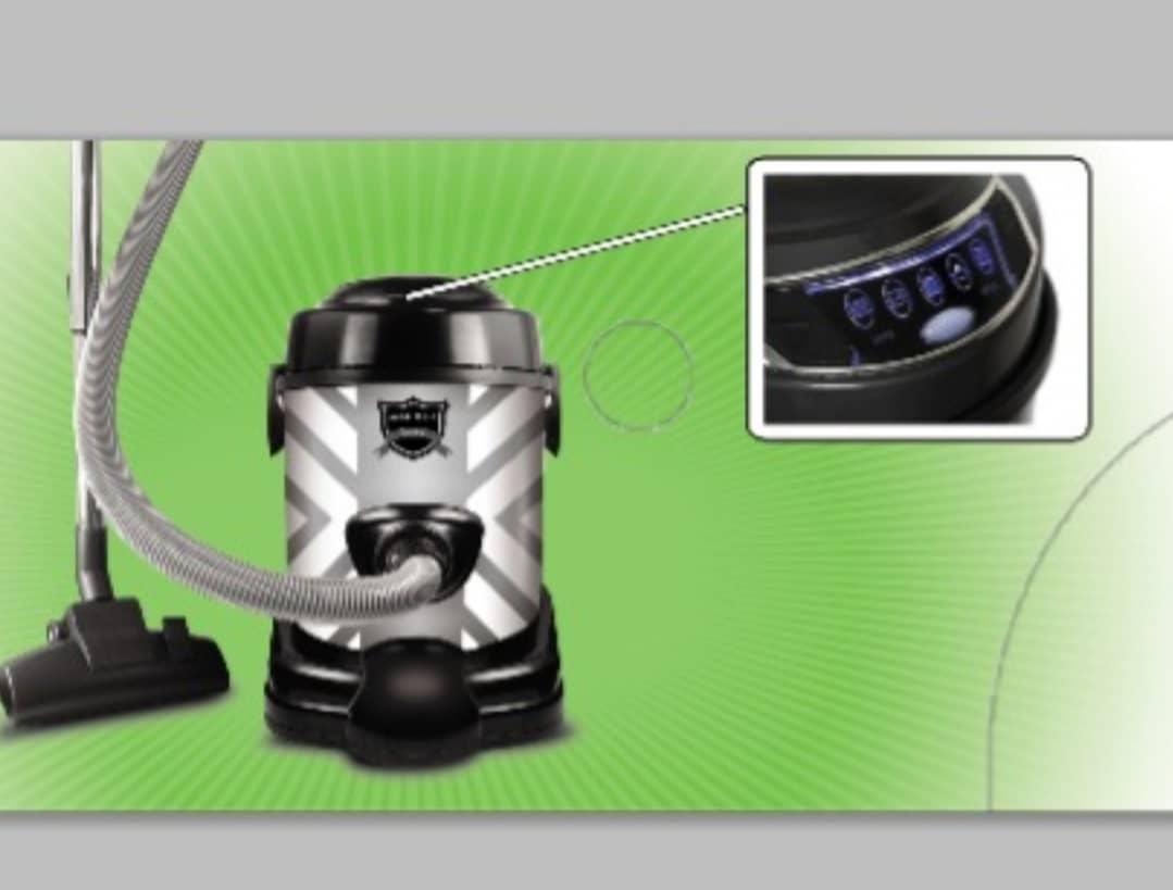 جاروبرقی سطلی زیست کالا مدل 5300 دیجیتال